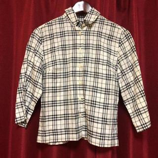 バーバリー(BURBERRY)の✩.*˚バーバリーロンドン☆七分袖チェックシャツ レディースM✩.*˚(シャツ/ブラウス(長袖/七分))