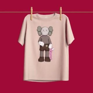 UNIQLO - 即購入OK●UNIQLO ✕KAWS 限定コラボTシャツ ピンク XL