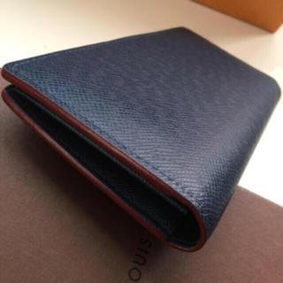 LOUIS VUITTON - 極美品 正規品ルイヴィトンタイガブラザ長財布  ネイビー✖︎レッド