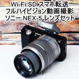 SONY - ★Wi-Fi SD スマホ転送&1420万画素★ソニー NEX-5 レンズセット