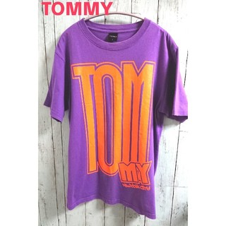 TOMMY - TOMMY トミー ビッグロゴ Tシャツ 薄紫色 パープル