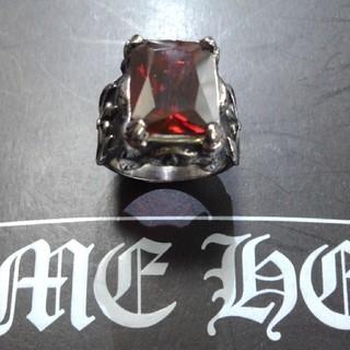クロムハーツ(Chrome Hearts)のクロムハーツタイプジルコニアリングレッド(リング(指輪))