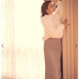エイミーイストワール(eimy istoire)のeimy istoire  グラデーションパールスカート(ひざ丈スカート)