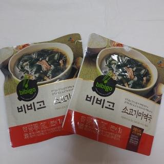 コストコ(コストコ)のビビゴ 牛肉ワカメスープ 300g×2袋(レトルト食品)