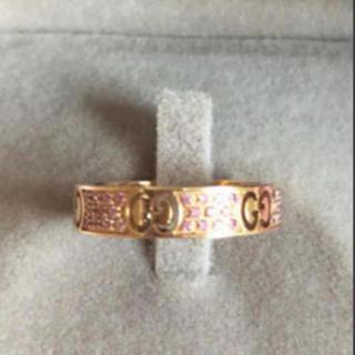 グッチ(Gucci)のGUCCI ピンクサファイアk18(リング(指輪))