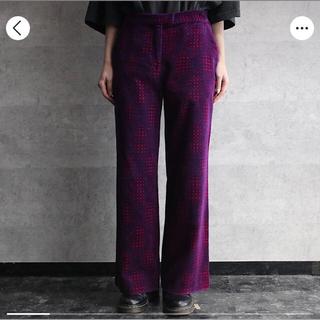 フェンディ(FENDI)の【美品】FENDI Design pattern velours pants(スラックス)