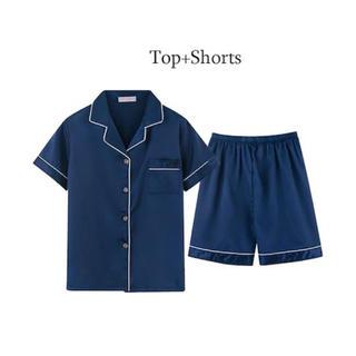 ジーユー(GU)のパジャマ セットアップ サテン生地 新品(パジャマ)