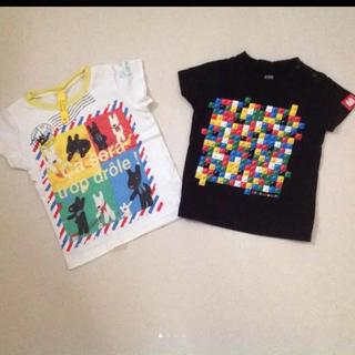 SunnyLandscape - サニーランドスケープ ダイヤブロック Tシャツ 80 2枚 リサとガスパール