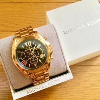 マイケルコース(Michael Kors)の【美品!!】MICHAEL KORS クロノグラフ腕時計 ブラック×ゴールド🎀(腕時計)