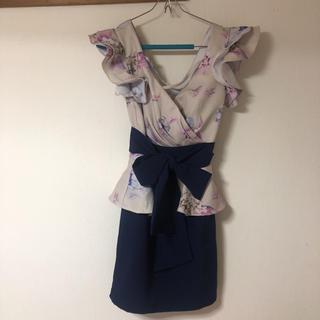 dazzy store - Vネック ペプラム ドレス