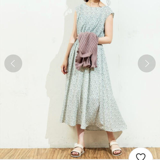 natural couture - natural couture 花柄ロングワンピース