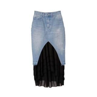eimy istoire - デニム切り替えスカート