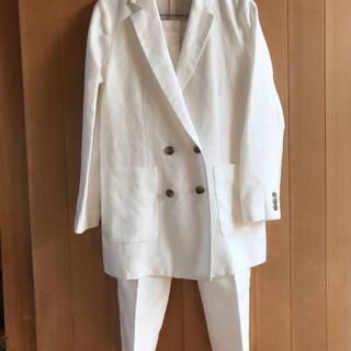 ビームス(BEAMS)のBEAMS麻オフホワイトスーツ(MADE  IN  JAPAN)(スーツ)