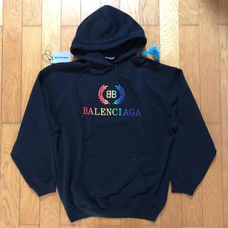 Balenciaga - 【新品 2019】Balenciaga BB マルチカラー フーディ S