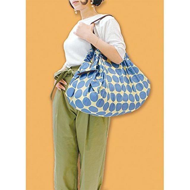 マーナ Shupatto ポケッタブルバッグ ドット インテリア/住まい/日用品のインテリア小物(小物入れ)の商品写真