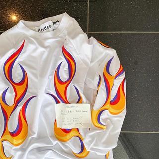 シュプリーム(Supreme)のetudes FLAMING TEE XL Taka 高木琢也着用(Tシャツ/カットソー(七分/長袖))