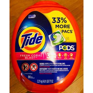 コストコ(コストコ)の特特大 96個 Tide タイド ジェルボール 濃縮洗剤 アメリカ 洗濯洗剤(洗剤/柔軟剤)