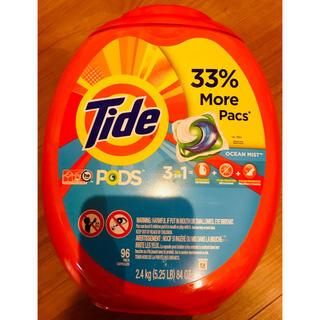コストコ(コストコ)の特特大 96個 Tide タイドオールインワン ジェルボール 濃縮洗剤 アメリカ(洗剤/柔軟剤)