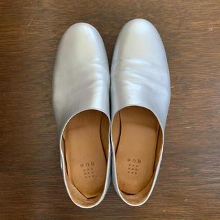 YAECA - que shoes plain シルバー 24.5㎝
