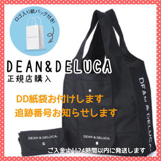 ディーンアンドデルーカ(DEAN & DELUCA)の紙袋付きDEAN&DELUCA正規品 エコバッグ黒ショッピングバッグトートバッグ(エコバッグ)