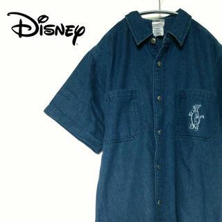 ディズニー(Disney)の古着☆激レア Disney ディズニー デニムシャツティガー デカロゴ(シャツ)