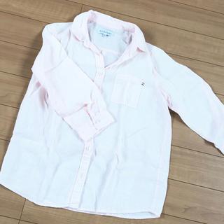 シマムラ(しまむら)のしまむら 淡いピンクのリネンシャツ(シャツ/ブラウス(長袖/七分))