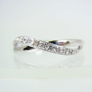 ヨンドシー(4℃)の4℃ K18WG ダイヤモンド リング 10号[f10-13](リング(指輪))