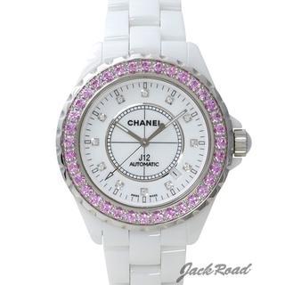 シャネル(CHANEL)のシャネル CHANEL  J12 オートマティック ピンクサファイアベゼル(腕時計(アナログ))