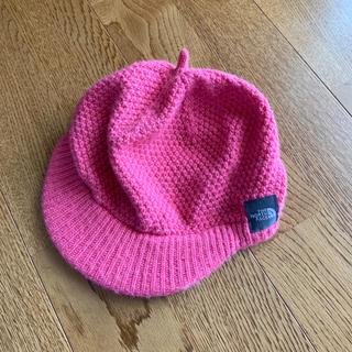 ザノースフェイス(THE NORTH FACE)のノースフェイス ニット帽  2〜3歳くらい ピンク(帽子)