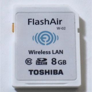 トウシバ(東芝)のWi-Fi SDカードTOSHIBA Flash Air 8GB(デジタル一眼)