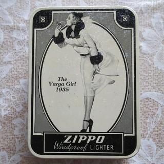 ジッポー(ZIPPO)のzippo  バルガガールライター缶ケース(タバコグッズ)