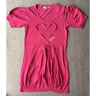 バービー(Barbie)のバービー Tシャツ ワンピース 新品同様(ミニワンピース)