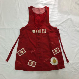 ピンクハウス(PINK HOUSE)のBABY PINK HOUSE ベビーピンクハウス ワンピース パッチワーク 赤(ワンピース)