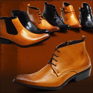 【新品】ブーツ ビジネスシューズ 6種類から選べる  25.5~27.5cm(ブーツ)