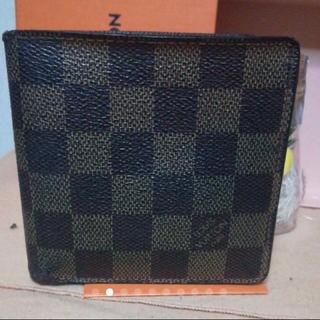 ルイヴィトン(LOUIS VUITTON)の美品 ルイヴィトン N61675 ポルトフォイユ マルコ ダミエ(折り財布)