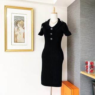 シャネル(CHANEL)の美品 シャネル  美しいココマーク ワンピース  ドレス(ひざ丈ワンピース)