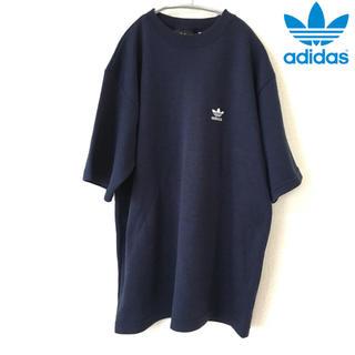 adidas - 【adidas】Tシャツ (L) スウェット トレフォイル  紺  アディダス