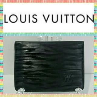 ルイヴィトン(LOUIS VUITTON)のルイヴィトン パスケース M63202 エピ 黒色(名刺入れ/定期入れ)