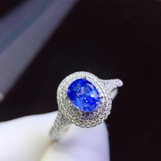本物保証 リング k18 サファイア宝石 ダイヤモンド(リング(指輪))