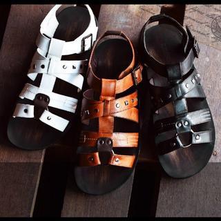【新品】メンズ サンダル 編み込み カジュアル 25.5~28cm 3色展開(サンダル)