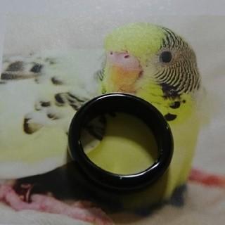 天然 メノウ  黒瑪瑙 リング 7号  ブラック オニキス (リング(指輪))