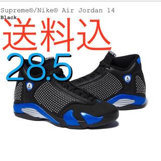 NIKE - supreme  jordan14 黒 28.5