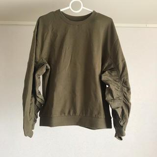 ケービーエフ(KBF)のKBF 異素材切り替えスウェット(Tシャツ(長袖/七分))