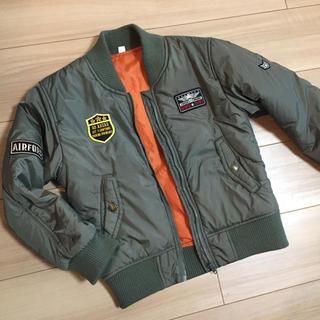 西松屋 - フライトジャケット 130 ブルゾン カーキ 上着 パイロット 相棒 亀山薫