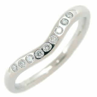 ティファニー(Tiffany & Co.)のティファニー カーブドプラチナ 9ポイント リング (リング(指輪))