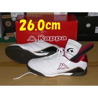 カッパ(Kappa)のカッパ26.0cm標準幅2Eホワイト/ワイン人工皮革bcm51  rx(スニーカー)