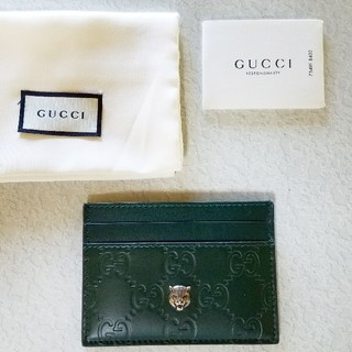 グッチ(Gucci)のGUCCI シマ タイガー カードケース(名刺入れ/定期入れ)