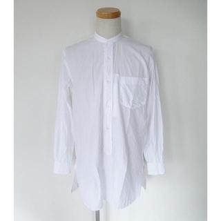 COMOLI - 18ss comoli サイズ2 バンドカラーシャツ ホワイト コモリ