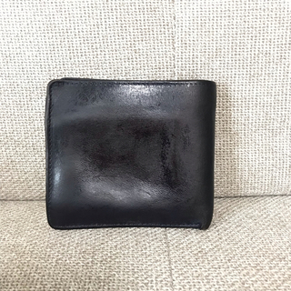 ホワイトハウスコックス(WHITEHOUSE COX)のホワイトハウスコックス ブライドルレザー  二つ折り財布 ネイビーS7532(折り財布)