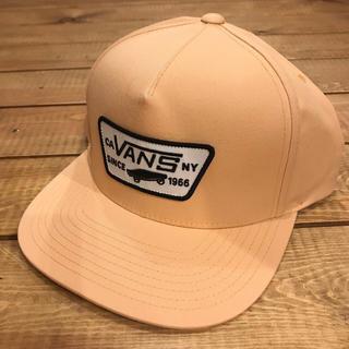 ヴァンズ(VANS)の新品 スナップバックキャップ VANS バンズ スクエアロゴ オレンジ パステル(キャップ)
